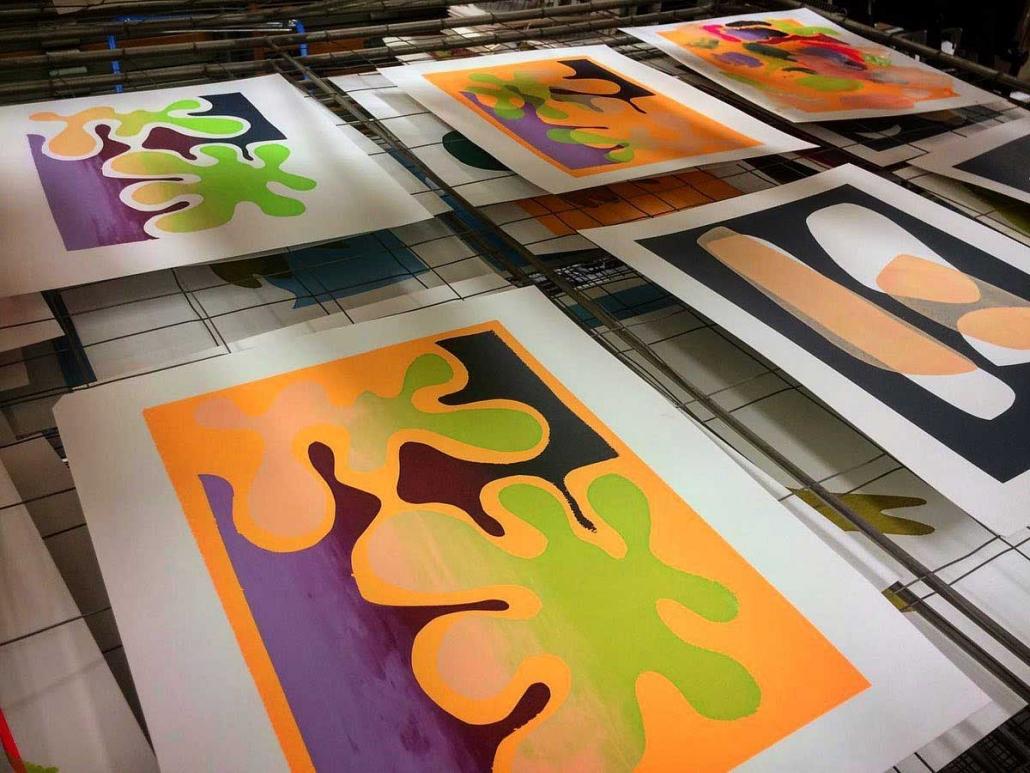 Grafisch Atelier Haarlem, cursus zeefdrukken, oktober 2020