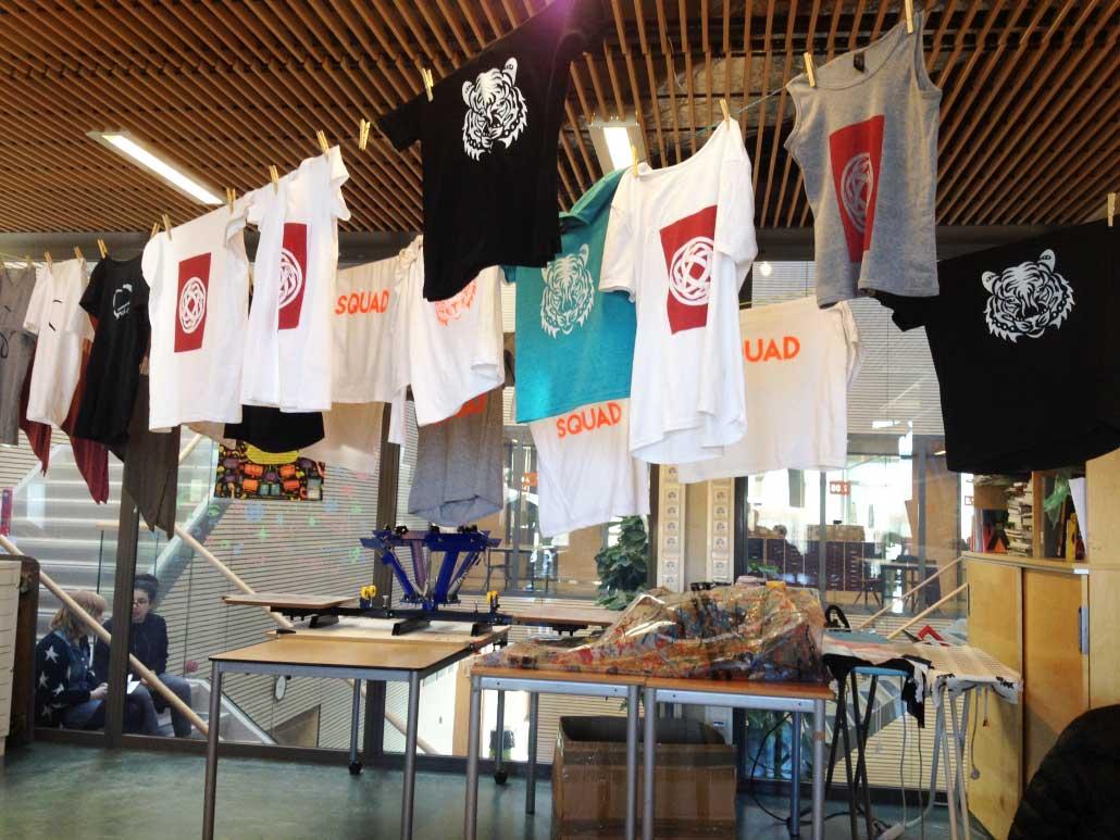 Grafisch Atelier Haarlem, zeefdrukken op textiel