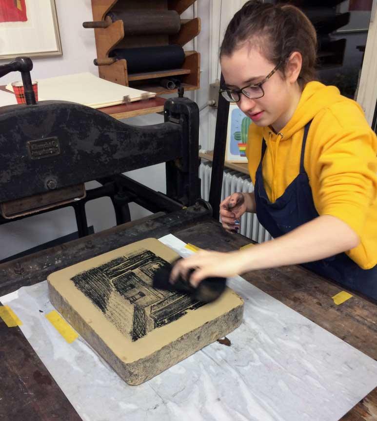 Grafisch Atelier Haarlem, educatie, lithografie