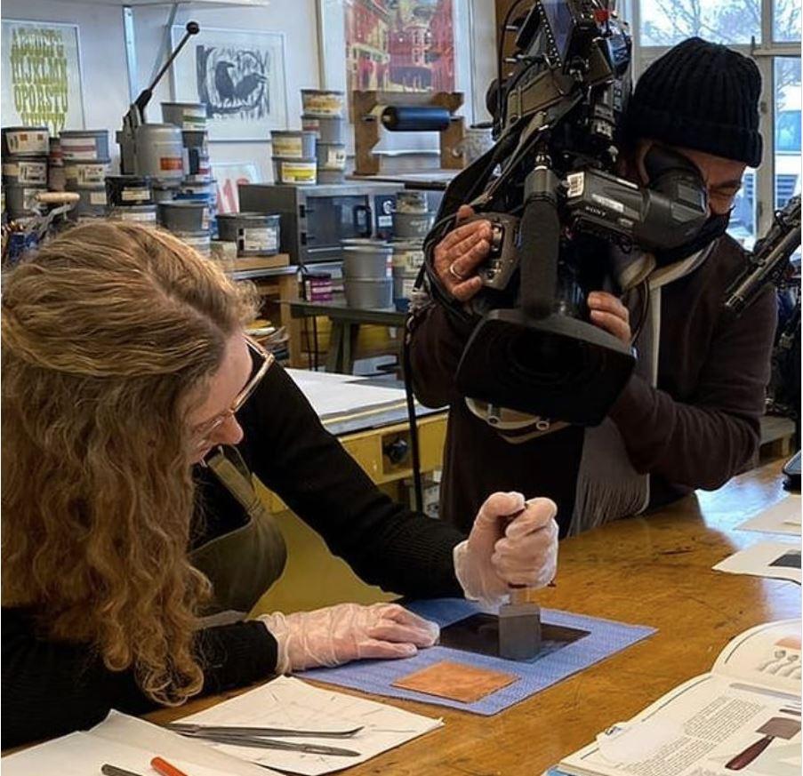 Tussen Kunst en Kitsch opname in Grafisch Atelier Haarlem